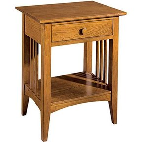 Woodworking Project Paper Plan to Build Mission Style Contemporary Night Stand, AFD348