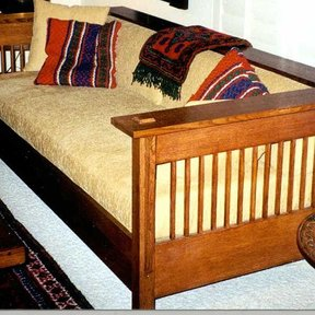 Woodworking Project Paper Plan to Build Mission Style Couch, AFD240