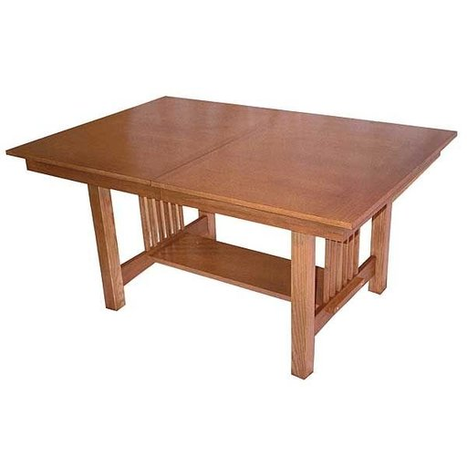 View a Larger Image of Woodworking Project Paper Plan to Build Mission Style Dining Table, AFD160