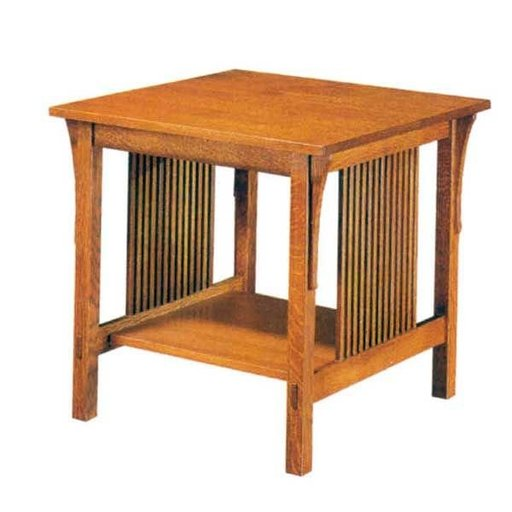 View a Larger Image of Woodworking Project Paper Plan to Build Mission Style End Table, AFD 235