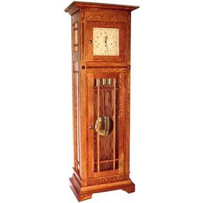 Woodworking Project Paper Plan to Build Mission Style Grandfather Clock, AFD295