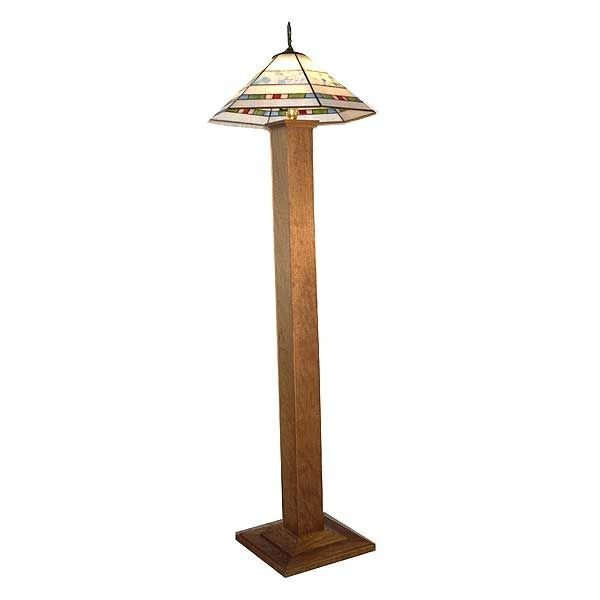 View A Larger Image Of Woodworking Project Paper Plan To Build Mission  Style Lamp, AFD231