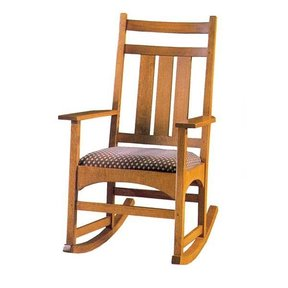 Woodworking Project Paper Plan to Build Mission Style Rocking Chair, AFD287