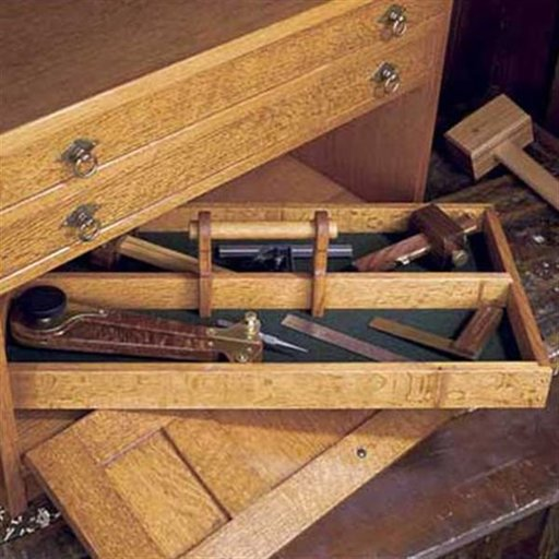 View a Larger Image of Woodworking Project Paper Plan to Build Mission Style Tool Chest