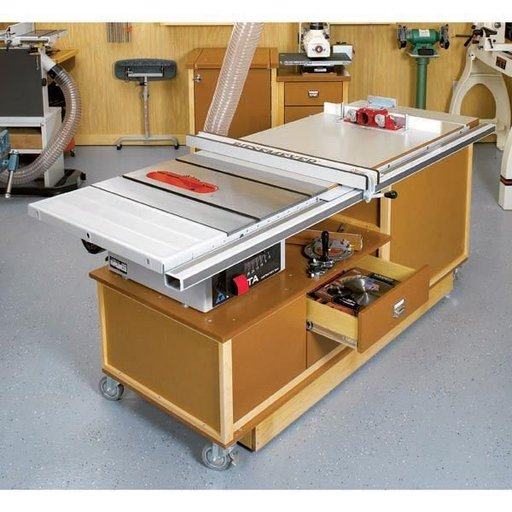 View a Larger Image of Woodworking Project Paper Plan to Build Mobile Sawing & Routing Center
