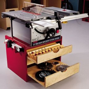 Woodworking Project Paper Plan to Build Mobile Tablesaw