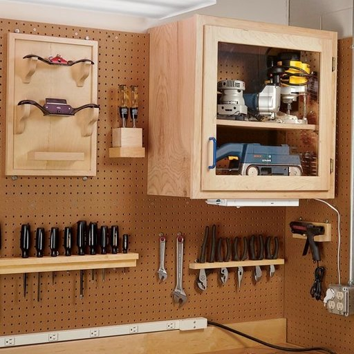 View a Larger Image of Woodworking Project Paper Plan to Build Modular Shop Cabinet System
