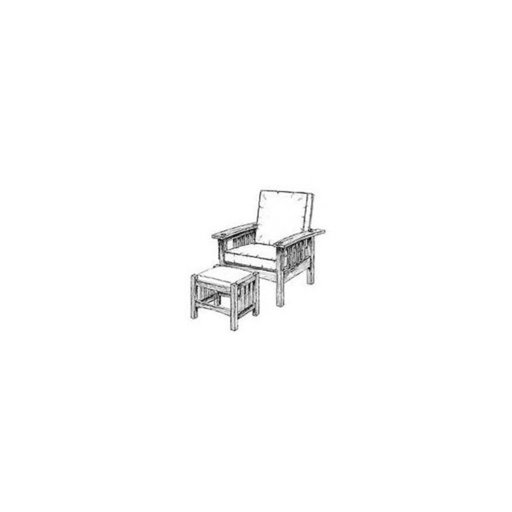 View a Larger Image of Woodworking Project Paper Plan to Build Morris Chair and Footrest