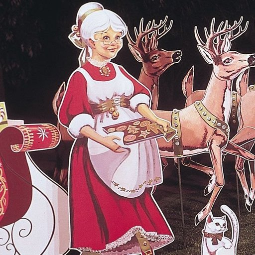 View a Larger Image of Woodworking Project Paper Plan to Build Mrs. Claus, Plan No. 335