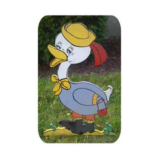 View a Larger Image of Woodworking Project Paper Plan to Build Mrs. Duck on a Walk