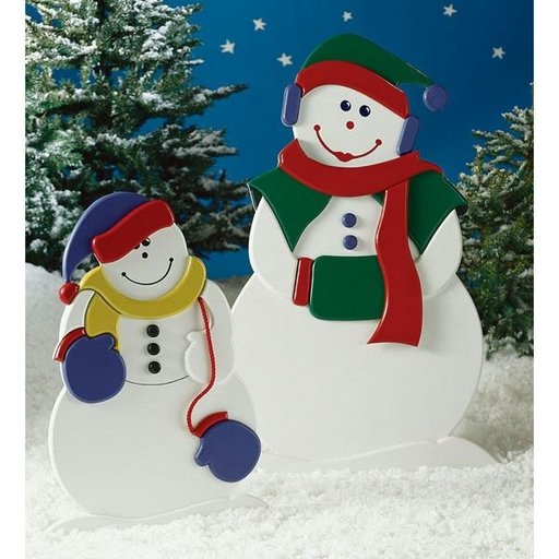View a Larger Image of Woodworking Project Paper Plan to Build Mrs. Snow and Little Snowflake