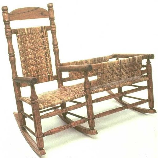 View a Larger Image of Woodworking Project Paper Plan to Build Nanny Rocking Chair with Cradle, AFD132