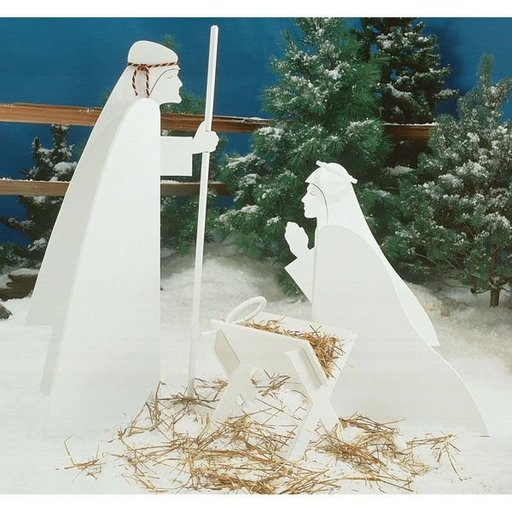 View a Larger Image of Woodworking Project Paper Plan to Build Nativity Scene