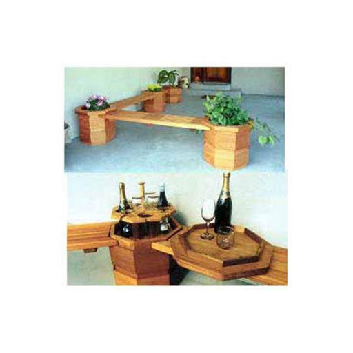 View a Larger Image of Woodworking Project Paper Plan to Build Octagonter Benches