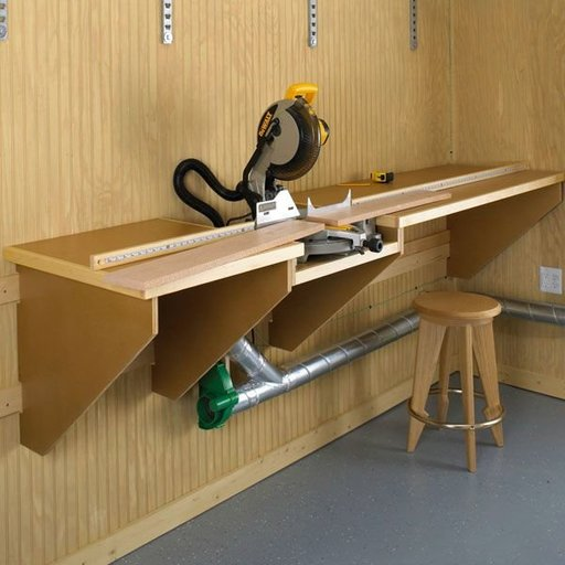 View a Larger Image of Woodworking Project Paper Plan to Build On-the-Mark Mitersaw Station