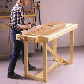 Woodworking Project Paper Plan to Build One-Weekend Workbench
