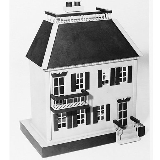 View a Larger Image of Woodworking Project Paper Plan to Build Open Back Doll House, Plan No. 411