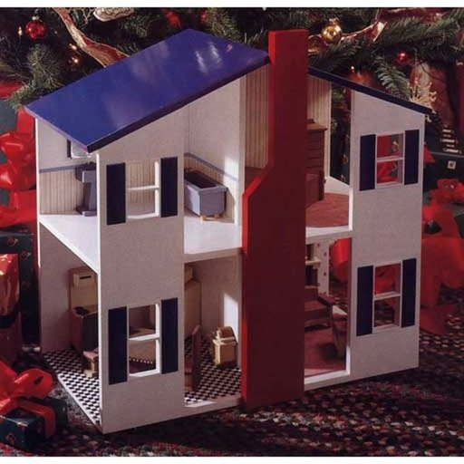 View a Larger Image of Woodworking Project Paper Plan to Build Open House Doll House