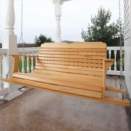 View a Larger Image of Woodworking Project Paper Plan to Build Outdoor Loving Porch Swing