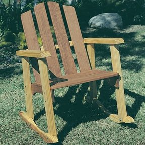 Woodworking Project Paper Plan to Build Outdoor Rocker, Plan No. 130