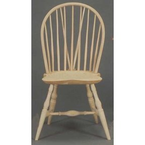 Woodworking Project Paper Plan to Build Oval Back Windsor Chair, AFD105