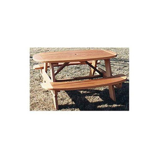 View a Larger Image of Woodworking Project Paper Plan to Build Oval Picnic Table