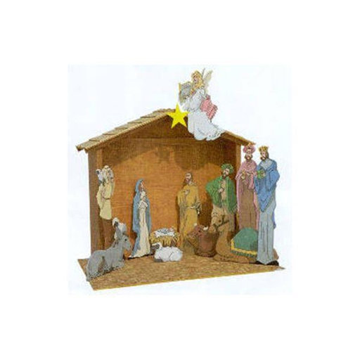 View a Larger Image of Woodworking Project Paper Plan to Build Paintable Nativity Scene