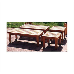 Woodworking Project Paper Plan to Build Patio Coffee Table and End Table