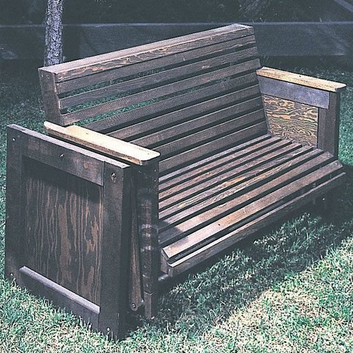 View a Larger Image of Woodworking Project Paper Plan to Build Patio Glider, Plan No. 641