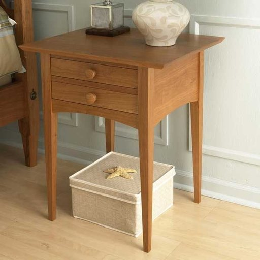 View a Larger Image of Woodworking Project Paper Plan to Build Pencil Post Nightstand