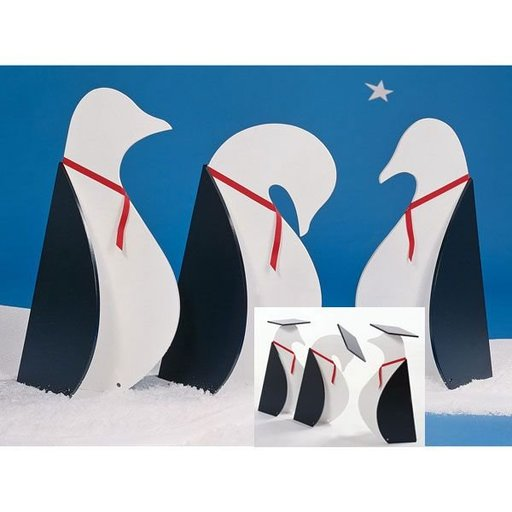 View a Larger Image of Woodworking Project Paper Plan to Build Penguins on Parade