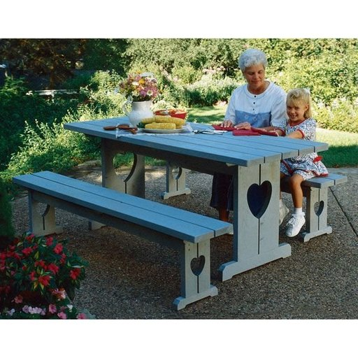 View a Larger Image of Woodworking Project Paper Plan to Build Picnic Table and Benches
