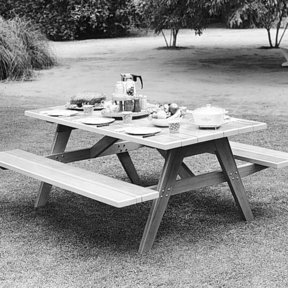 Woodworking Project Paper Plan to Build Picnic Table & Benches, Plan No. 312