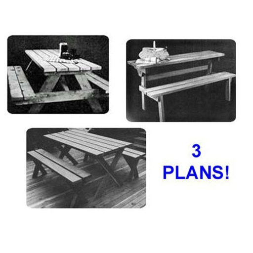 View a Larger Image of Woodworking Project Paper Plan to Build Picnic Table Value Pack of