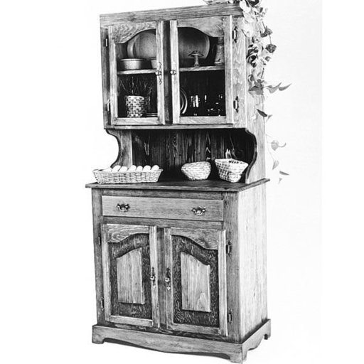 View a Larger Image of Woodworking Project Paper Plan to Build Pine China Cabinet, Plan No. 667