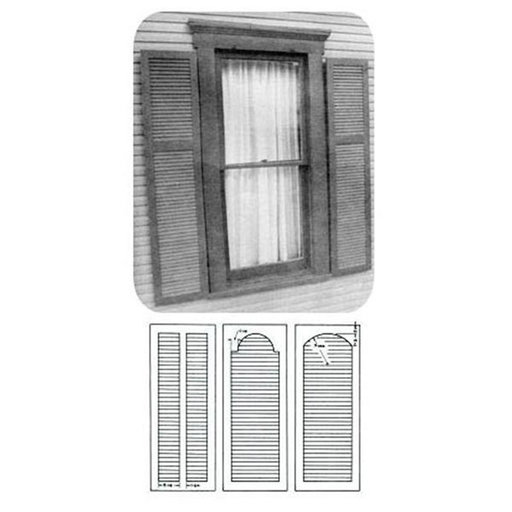 Woodworking project paper plan to build plantation shutter for Plantation shutter plans