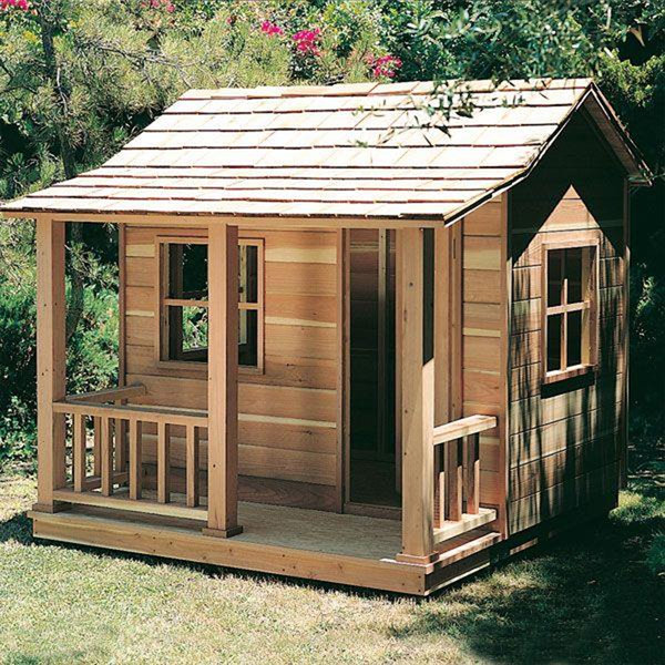 Woodworking project paper plan to build playhouse for Casita plans for backyard