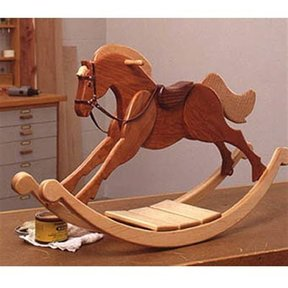 Woodworking Project Paper Plan to Build Playroom Palomino Rocking Horse