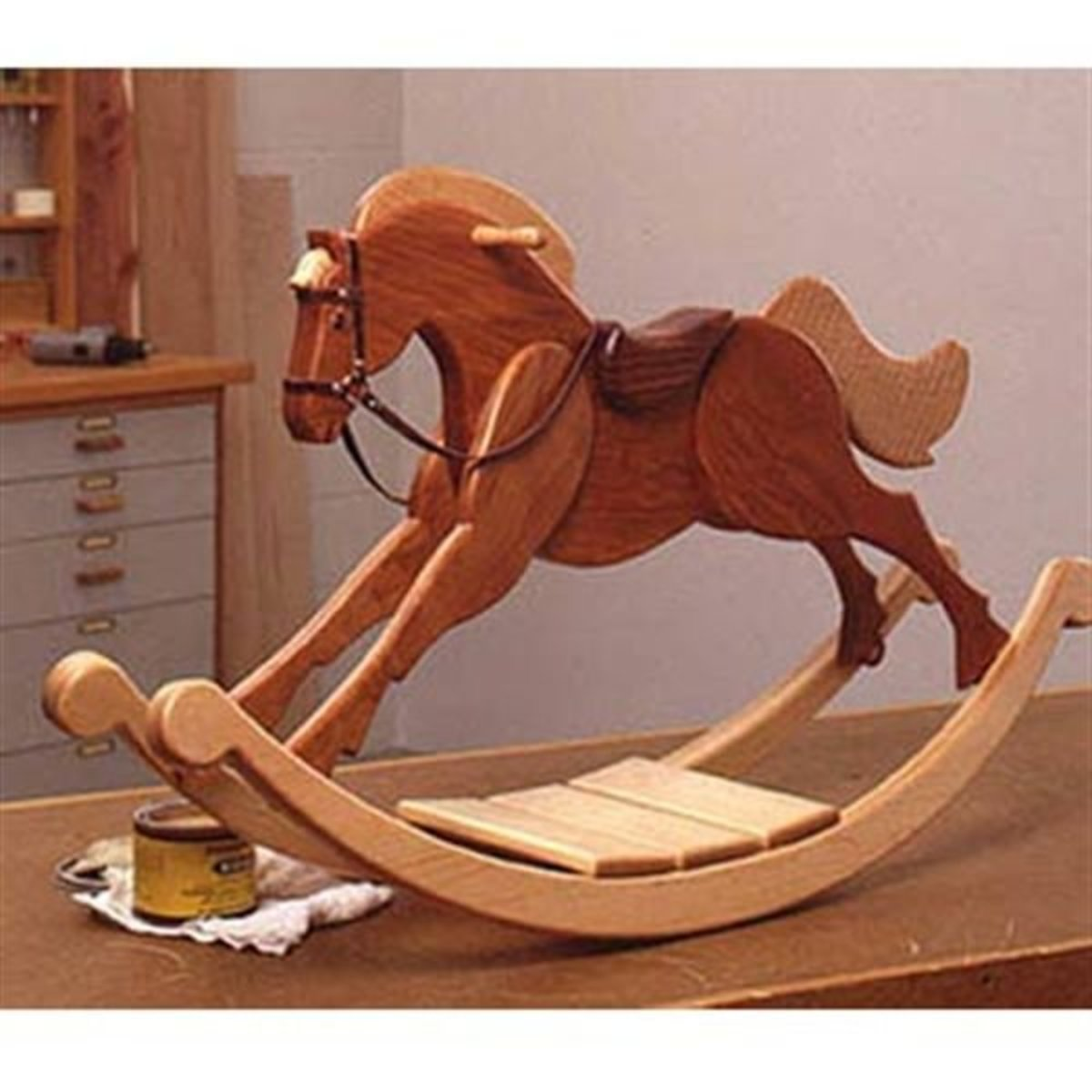 Wood Magazine Woodworking Project Paper Plan To Build Playroom Palomino Rocking Horse