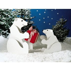 Woodworking Project Paper Plan to Build Polar Bears