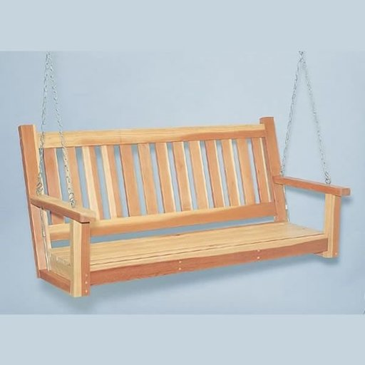 View a Larger Image of Woodworking Project Paper Plan to Build Porch Swing, Plan No. 897