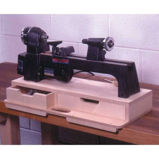 View a Larger Image of Woodworking Project Paper Plan to Build Portable Mini-Lathe Base