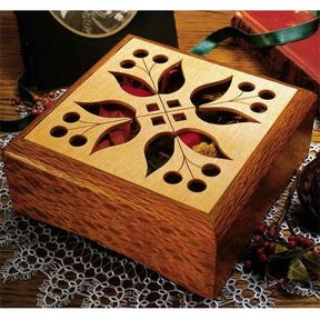 Woodworking Project Paper Plan to Build Potpourri Box