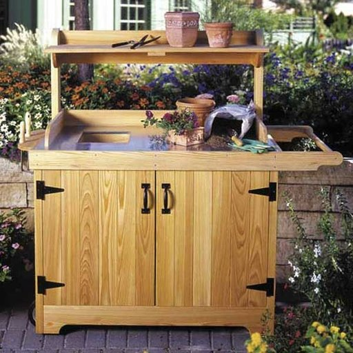 View a Larger Image of Woodworking Project Paper Plan to Build Potting Bench