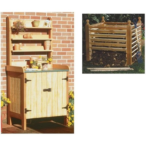 View a Larger Image of Woodworking Project Paper Plan to Build Potting Table & Compost Bin