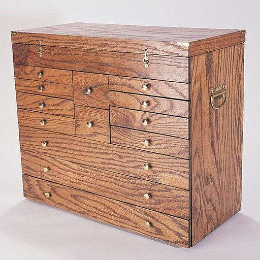View a Larger Image of Woodworking Project Paper Plan to Build Precision Tool Chest, Plan No. 788