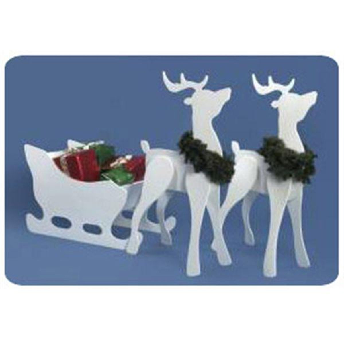 Reindeer Pattern Plywood Cool Decoration