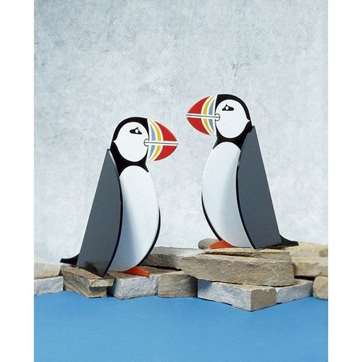 View a Larger Image of Woodworking Project Paper Plan to Build Puffins by the Pair