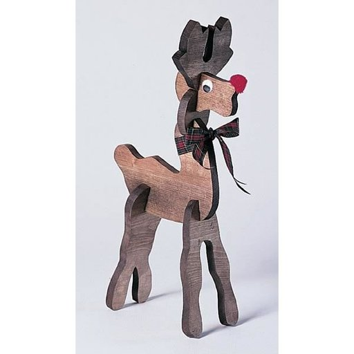 View a Larger Image of Woodworking Project Paper Plan to Build Pull-Apart Reindeer, Plan No. 819