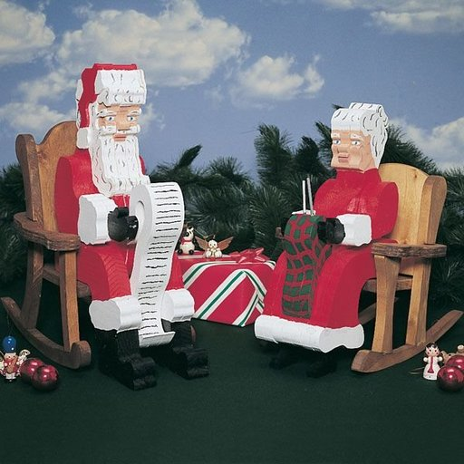 View a Larger Image of Woodworking Project Paper Plan to Build Pull-Apart Santa & Mrs. Claus, Plan No. 862